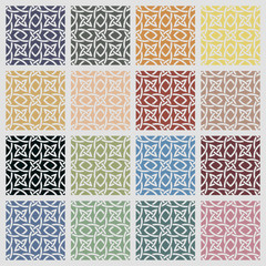 Set of colored cross pattern