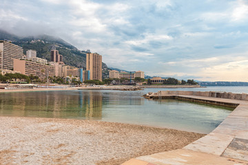 View over Monaco beach, Cote d'Azur