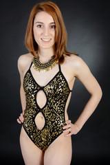 Teen in Body Leopard