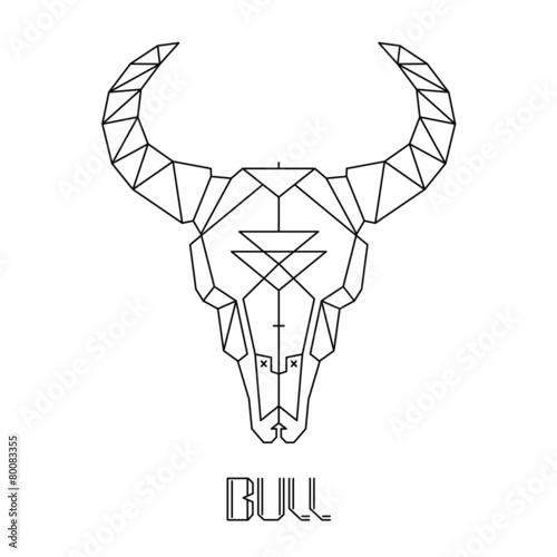 Bull skull, cow skull vector - 80083355