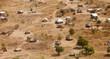Leinwanddruck Bild - aerial view of African village