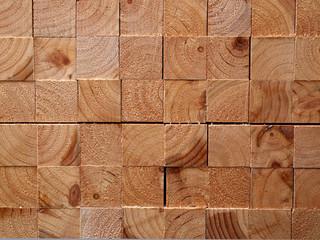 木材‐角材模様‐正方形
