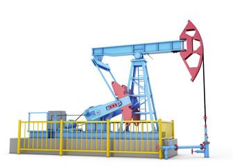 Oil pump on a white