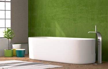Weiße Badewanne