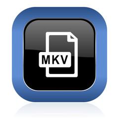 mkv file square glossy icon