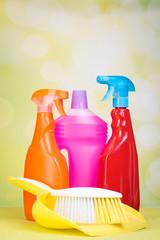 putzflaschen mit kehrblech
