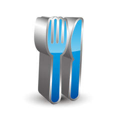 Cutlery Icon 3D