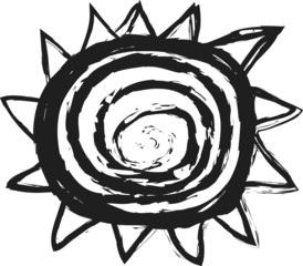 doodle stylized sun