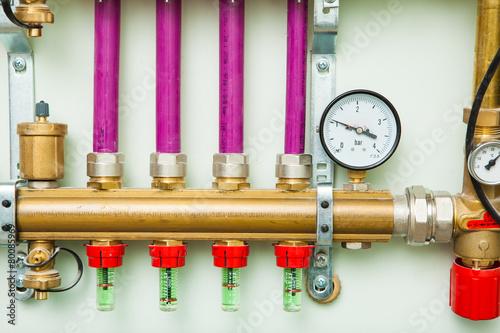 underfloor heating control system in boiler-room - 80085969