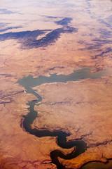 conchas lake, new mexico, aerial shot