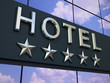 The hotel sign. - 80087362