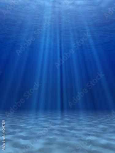 Blue sea underwater.