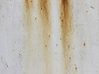 Rust on a painted metal plate