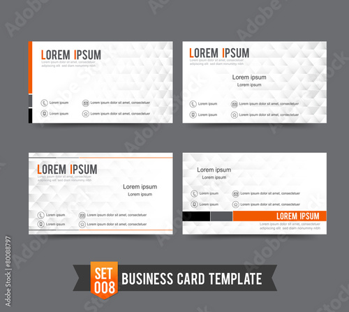 Business Card template set  008 Clear and minimal design - 80088797
