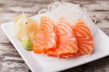Salmon sashim