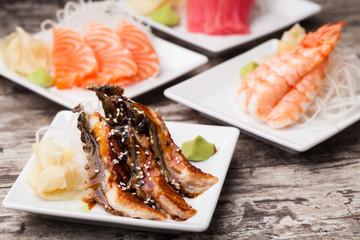 delicious mixed sashimi