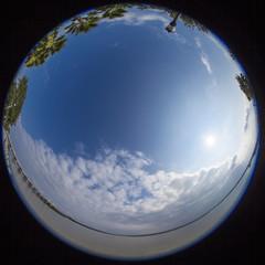360 degree fisheye view of south carolina