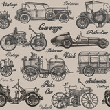 Vintage, retro cars. Background. banner, poster