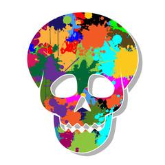 Colorful skulls