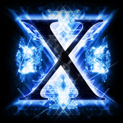 Blue Abstract Letter X