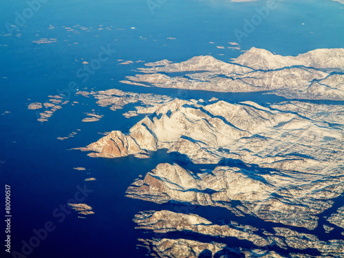 Fotobehang Antarctica 2 aerial view of greenland
