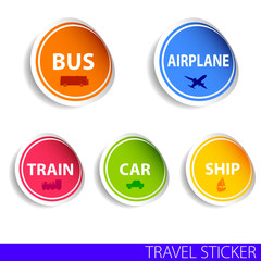 travel sticker color vector