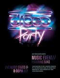 Fototapety Shiny retro 80s party or disco party invitation template