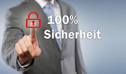 100 % Sicherheit