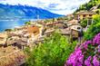 Limone - beautiful town in Lago di Garda, Italy north - 80092124