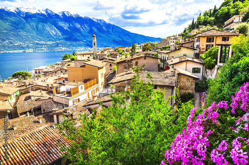 Limone - beautiful town in Lago di Garda, Italy north