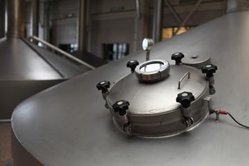 Details manhole of fermentation vat