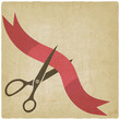 Scissors cut red ribbon - 80092785
