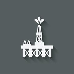 oil platform symbol