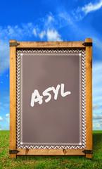 Strassenschild 34 - Asyl