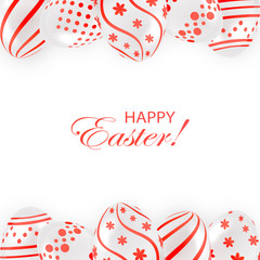 Easter eggs with red pattern