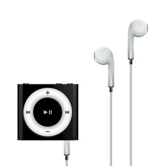 Vector MP3 Player, white headphones