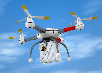 Quadrocopter dangerous goods