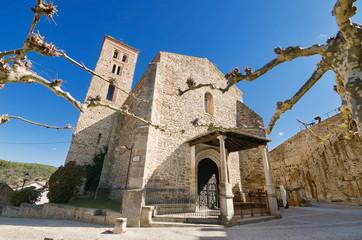 Ancient 14th century Church in Buitrago de Lozoya, Spain
