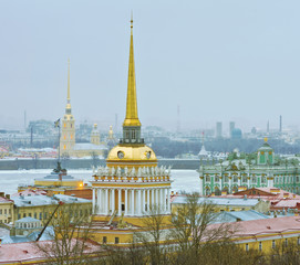 View of St.-Petersburg from colonnade of St. Isaac's Cathedral