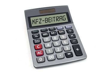 Taschenrechner mit KFZ-Beitrag