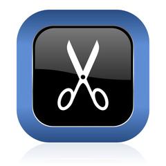 scissors square glossy icon cut sign
