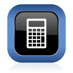 calculator square glossy icon