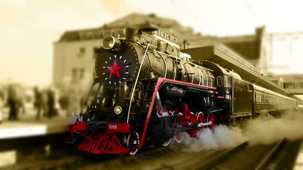 steam engine. old locomotive. nostalgic technology. transit rail
