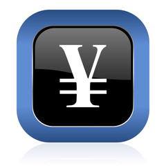yen square glossy icon