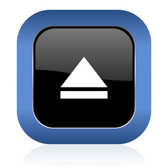 eject square glossy icon open sign