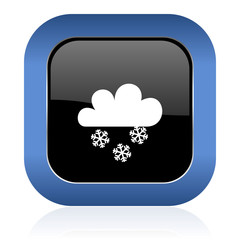 snowing square glossy icon waether forecast sign