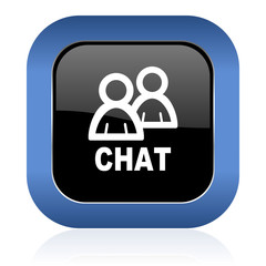 chat square glossy icon