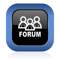forum square glossy icon