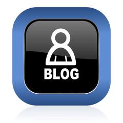 blog square glossy icon