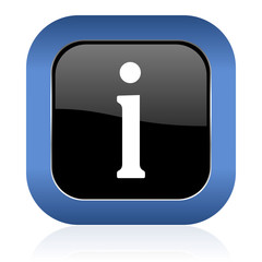 information square glossy icon